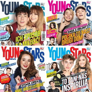 Zestaw Young Stars News (nr.1,2,3,4)